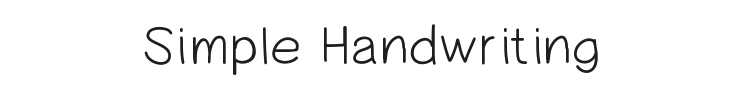 Simple Handwriting Font Preview