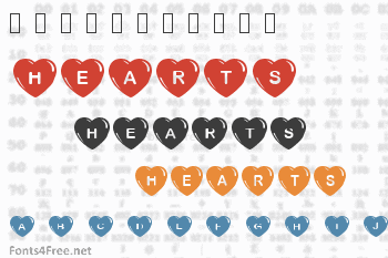 Simple Hearts Font
