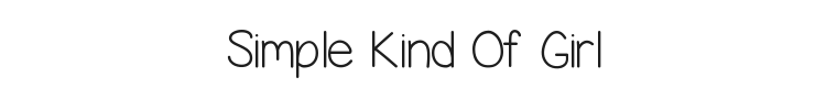 Simple Kind Of Girl Font