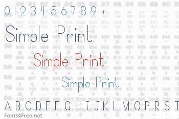 Simple Print Font