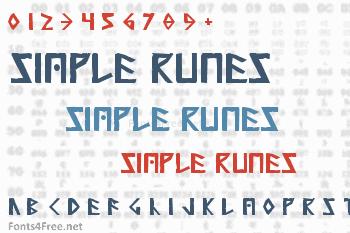 Simple Runes Font