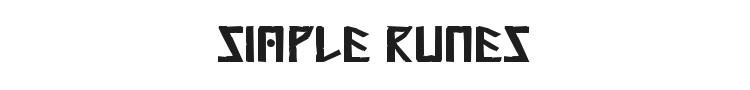 Simple Runes Font Preview