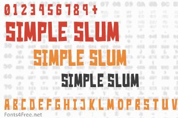Simple Slum Font