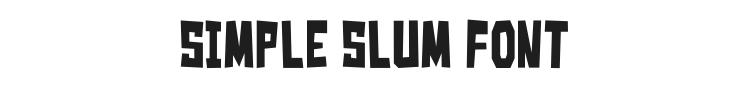 Simple Slum Font Preview