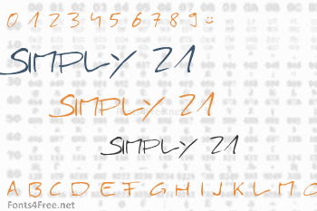 Simply 21 Font