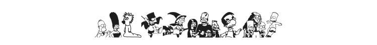 Simpsons Treehouse of Horror Font Preview