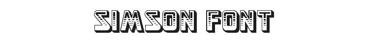 Simson Font