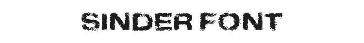 Sinder Font Preview