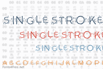 Single Stroke Font