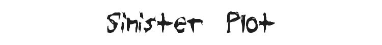 Sinister Plot Font Preview