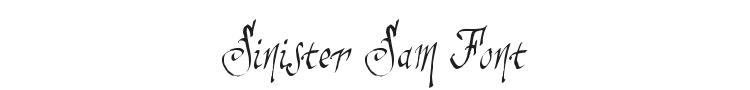 Sinister Sam Font