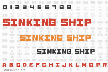 Sinking Ship Corian Font