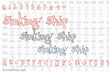 Sinking Ship Font