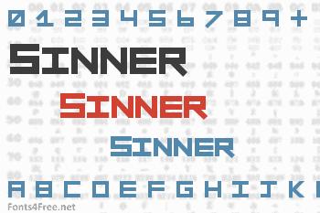 Sinner Font