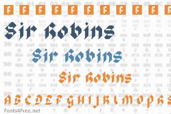 Sir Robins Minstrels Font