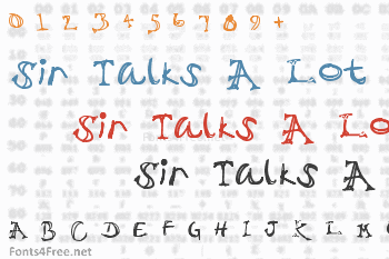 Sir Talks A Lot Font
