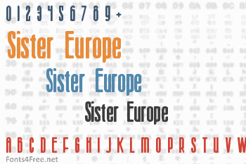 Sister Europe Font