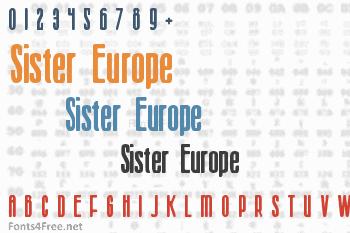 Sister Europe Font