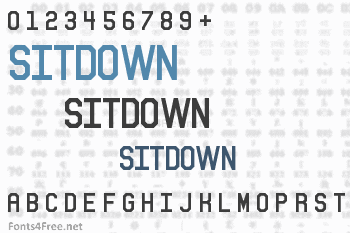 Sitdown Font