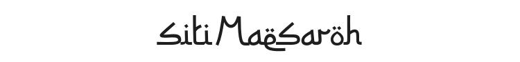 Siti Maesaroh Font Preview