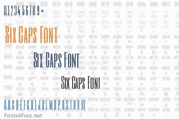 Six Caps Font