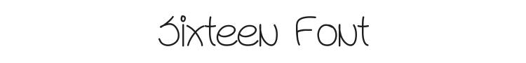 Sixteen Font Preview