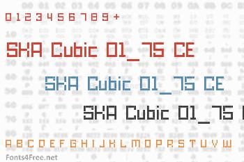 SKA Cubic 01_75 CE Font