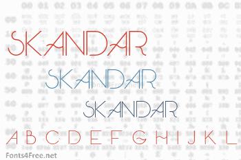 Skandar Font