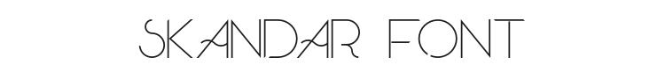 Skandar Font Preview
