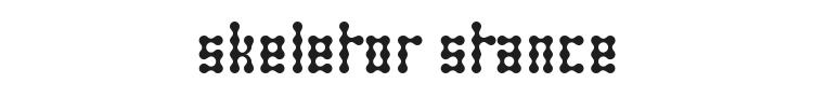 Skeletor Stance Font