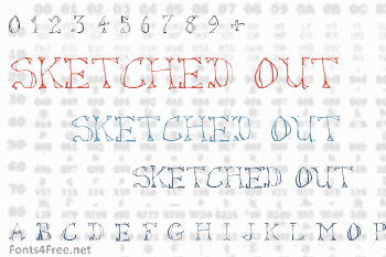 Sketched Out Font