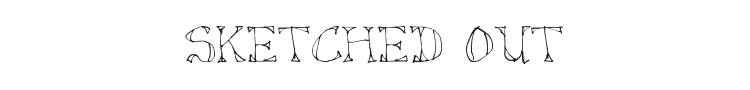 Sketched Out Font Preview