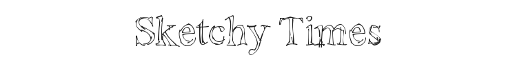 Sketchy Times Font Preview