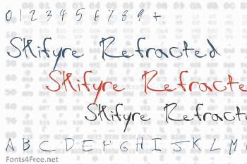 Skifyre Refracted Font