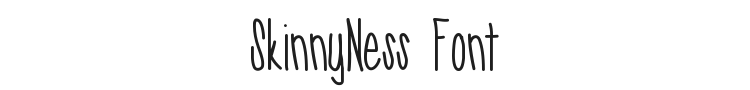 SkinnyNess Font Preview