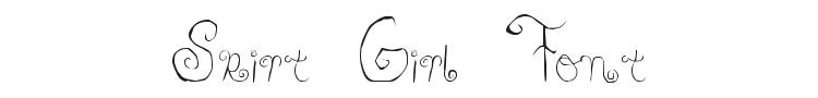 Skirt Girl Font Preview