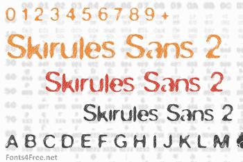 Skirules Sans 2 Font