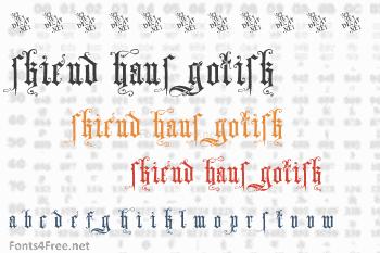 Skjend Hans Gotisk Font