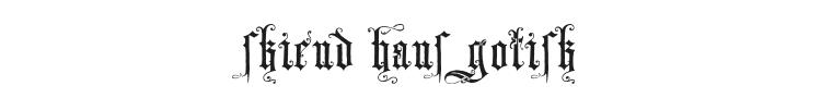 Skjend Hans Gotisk Font Preview