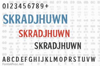 Skradjhuwn Font