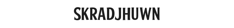 Skradjhuwn Font Preview