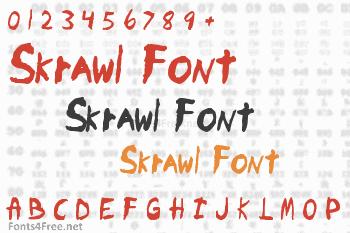 Skrawl Font