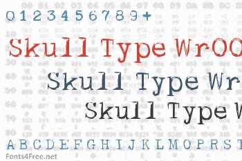Skull Type Wr00 Font