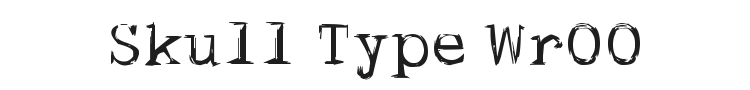 Skull Type Wr00 Font Preview