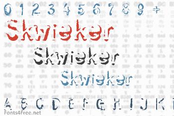 Skwieker Font