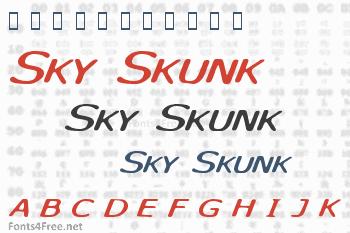 Sky Skunk Font