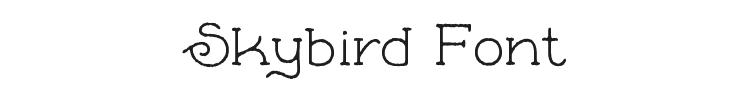 Skybird Font Preview
