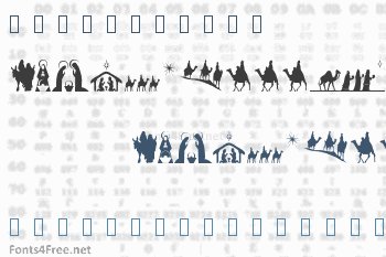 SL Christmas Silhouettes Font