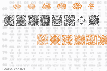 SL Square Ornaments Font