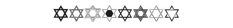 SL Star of David Font Preview